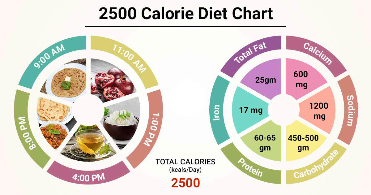 2500 calories meal plan